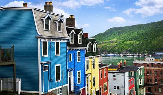 St Johns houses, Canada, Canadian Maritimes