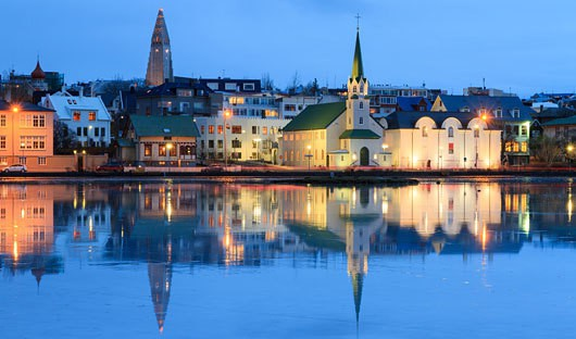 Reykjavik Iceland reflection