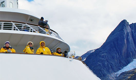 On Deck, Greenland Fjord