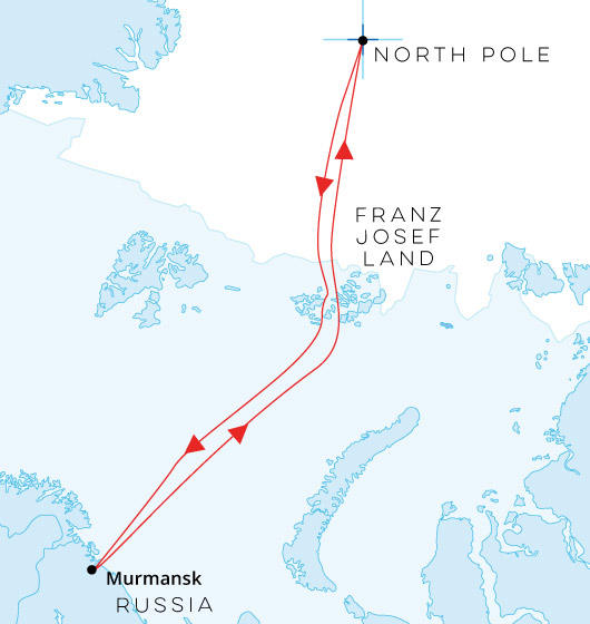North Pole from Murmansk