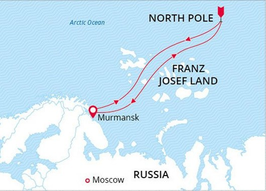 North Pole Voyage Map
