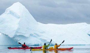 Kayaking Greg Mortimer