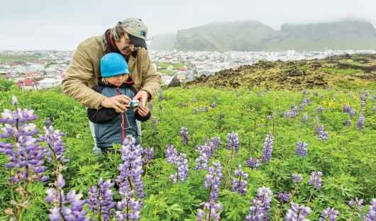 Father and Son, Chris Rainier, Skyler Rainier, Heimaey, Veatmannaeyar, Atlantic Ocean, Iceland