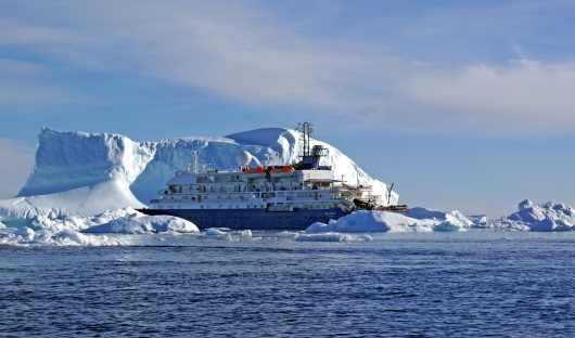 Sea Spirit next to Iceberg- Fiona