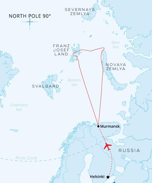 Franz Josef Land and Novaya Zemlya