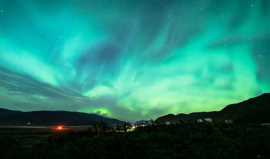 AURORA_Beautiful night at Narsarsuaq with northern lights, Greenland, resized