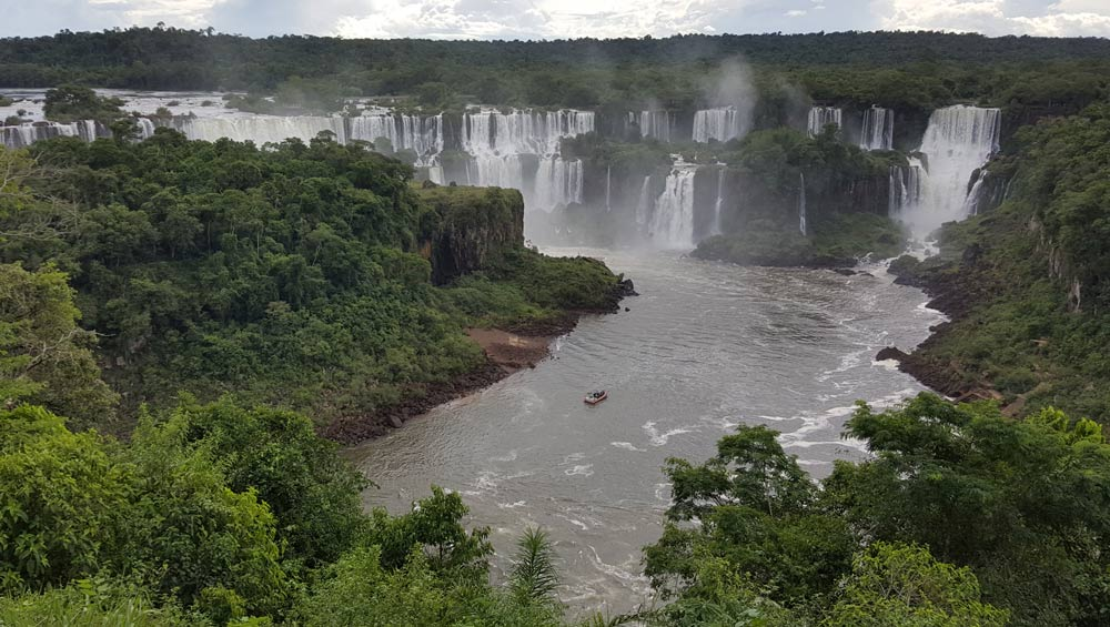 Iguazu Falls Argentinian side By Jean Johnston