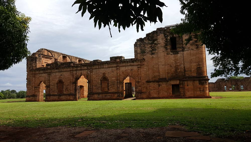 Jesuit Mission, Ruins of Jesus de Tavarangue, Paraguay by Jean Johnston