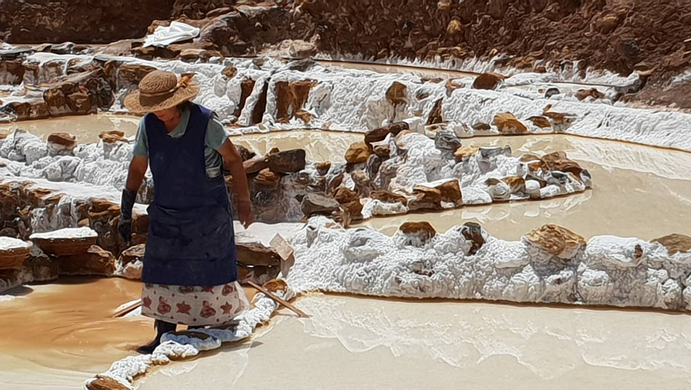 Salt gathering Maras Peru By Cheryl Gale