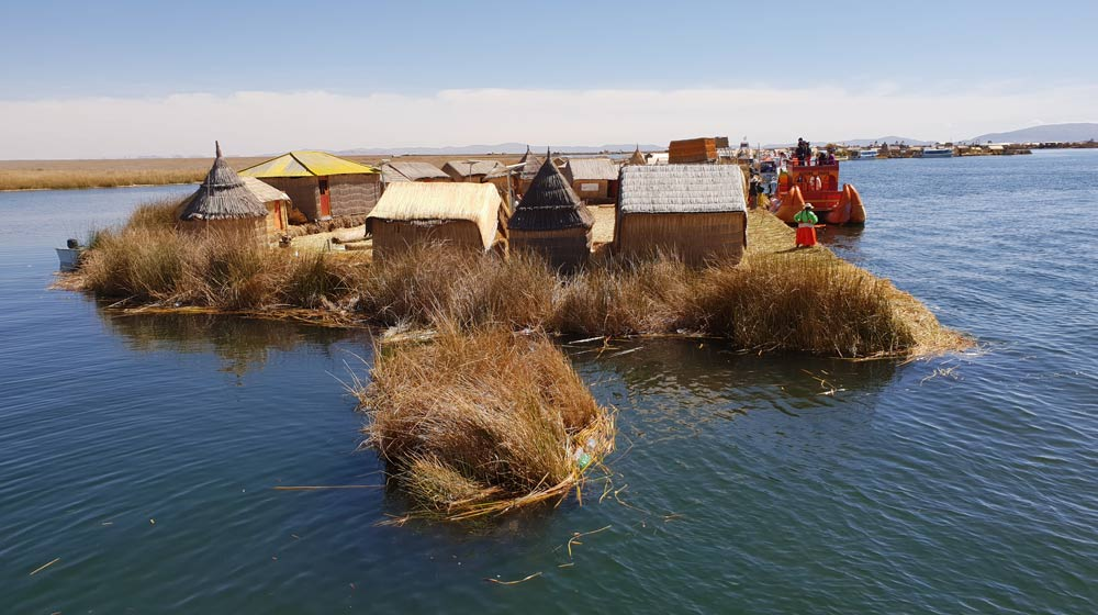 Uros reed islands Lake Titicaca Peru By Cheryl Gale