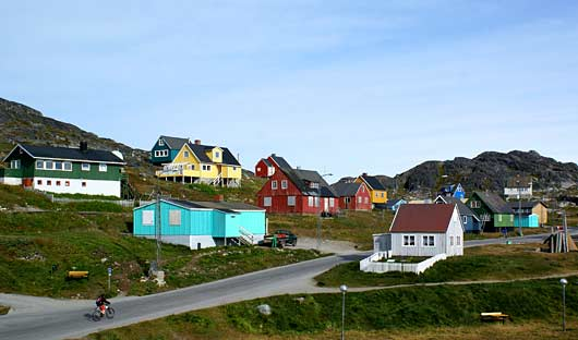 Colourful houses Greenland