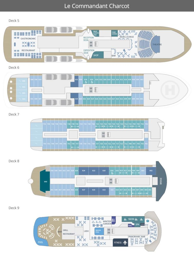 Le Commandant Charcot Deck Plan