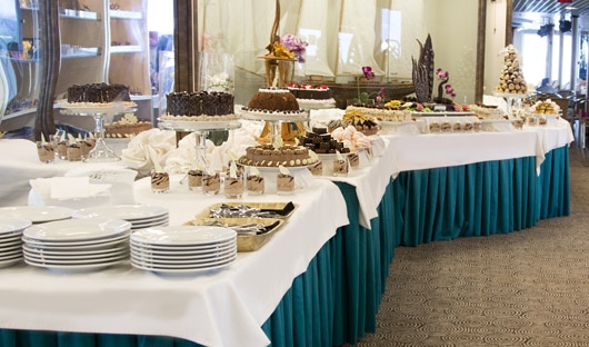 Dessert Buffet ocean diamond Iceland Pro cruises only