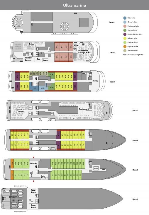 Ultramarine Deck Plan