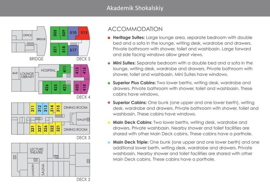 Akademik Shokalskiy Deck Plan