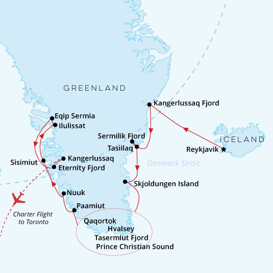 Greenland Odyssey Map